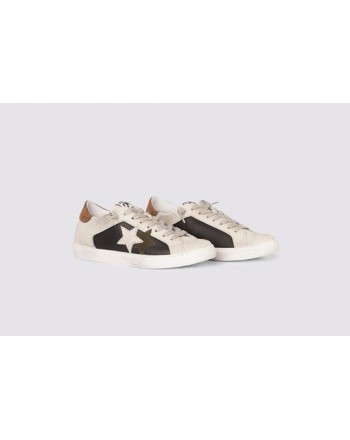 2 STAR- Sneakers 2S3242-110 Leather - black / ice brown green