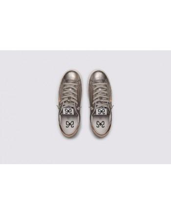 2 STAR- Sneakers 2S3227-096 Pelle - Piombo/Rame