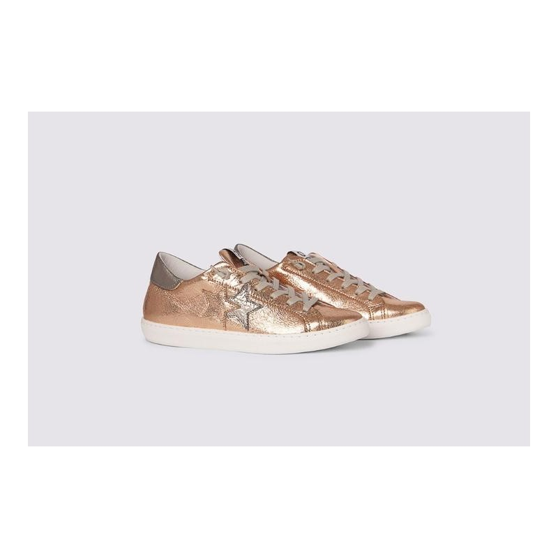 2 STAR- Sneakers 2S3228-097 Leather - Copper / Lead