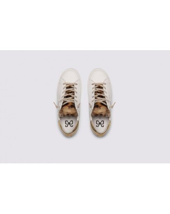 2 STAR- Sneakers 2S3214-074 Pelle - Bianco/oro