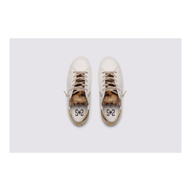 2 STAR- Sneakers 2S3214-074 Leather - White / gold