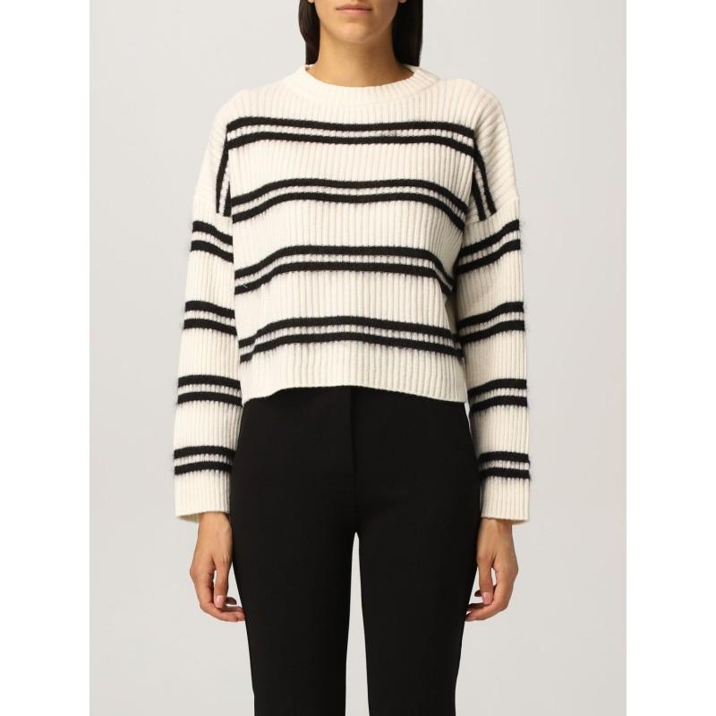 PINKO - BARBERA  Striped Knit - White/Black