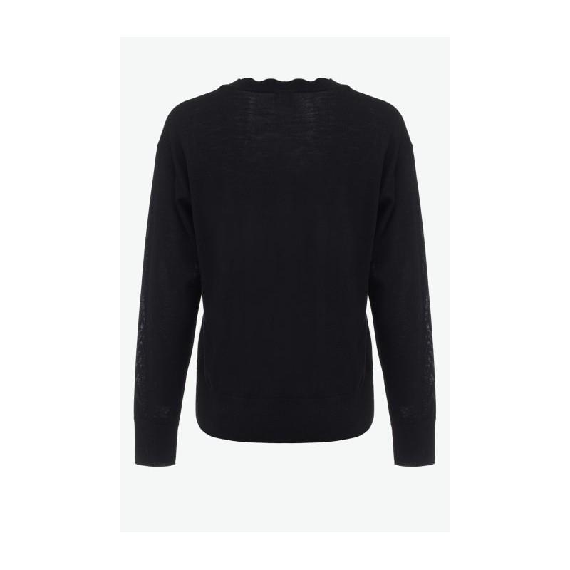PINKO - NOSIOLA -  V Neckline Wool Knit