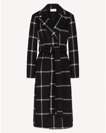 RED VALENTINO - Wool Gown Coat - Black