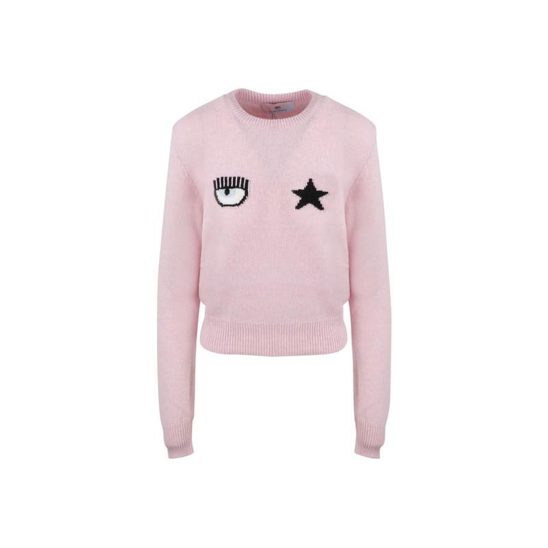 CHIARA FERRAGNI - EYESTAR Merino Wool Knit - Pink