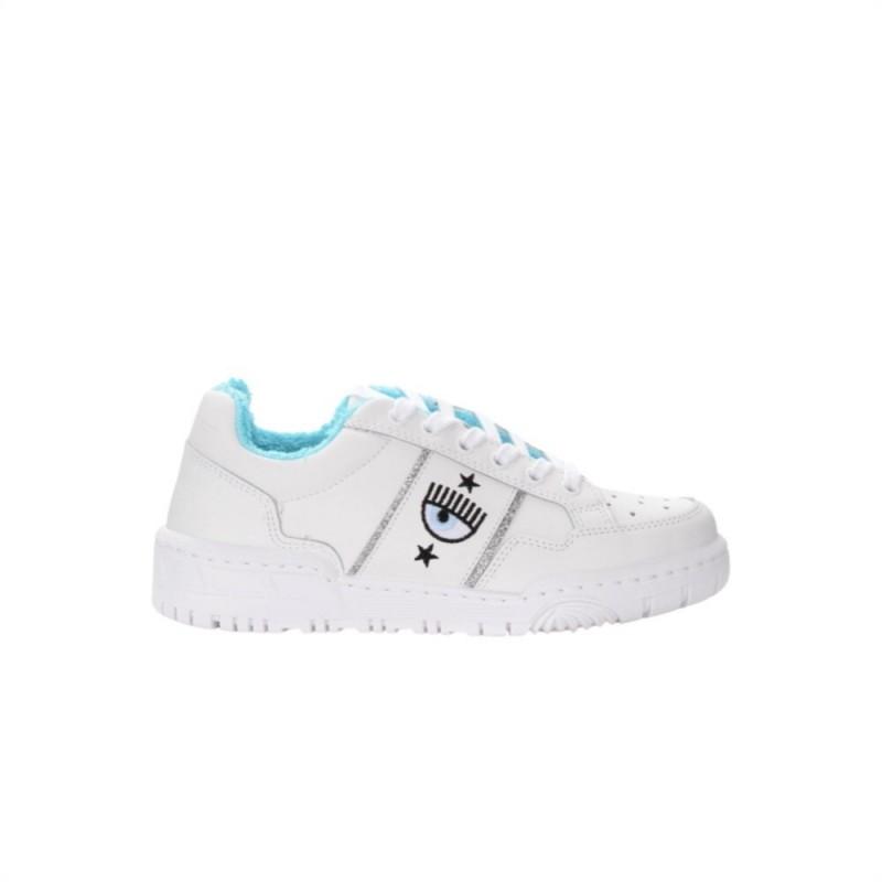 CHIARA FERRAGNI - CF1 Leather Sneakers - White
