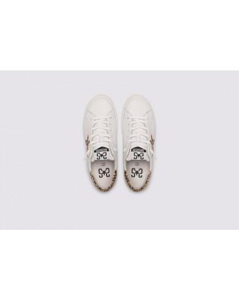 2 STAR- Sneakers 2S3210-088 Pelle - Bianco/Oro  Maculato rosa