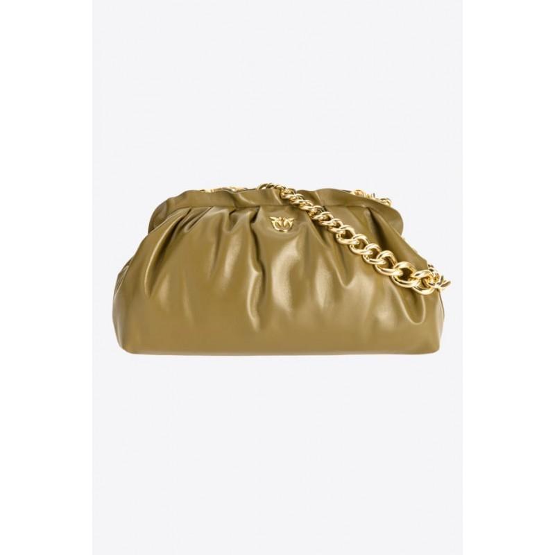 PINKO - Bag CHAIN CLUTCH FRAMED 1 CL - OLIVE