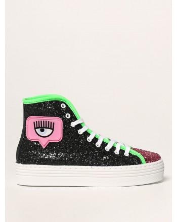 CHIARA FERRAGNI - HIGH EYELIKE GLITTER Sneakers - Multicolour/Black