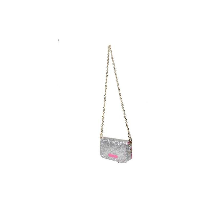 CHIARA FERRAGNI - EYELIKE BAG GLITTER - Silver