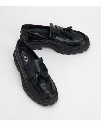 Tods donna -  Leather moccasin W08J0EY30SHA999 - Black