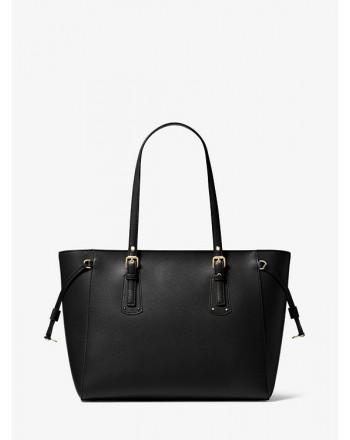 MICHAEL by MICHAEL KORS -  VOYAGER Medium Leather  Bag  - Black