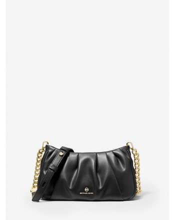 MICHAEL by MICHAEL KORS - HANNAH Clutch Leather Bag - Black