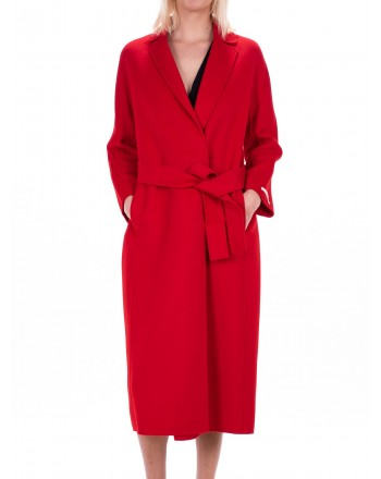 MAX MARA STUDIO - GIUNGLA coat in wool Angora - Red