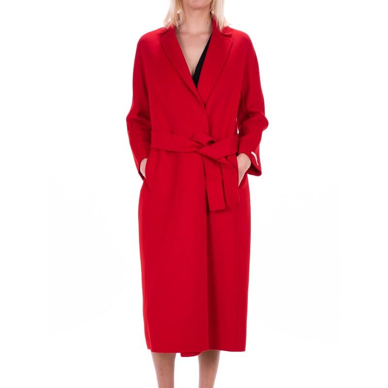 MAX MARA STUDIO - GIUNGLA coat in wool Angora - Red