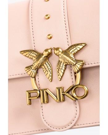 PINKO - Borsa LOVE Classic Icon Simply 8 CL - Cipria