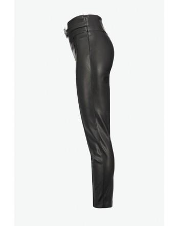 PINKO - Trousers leatherette ARBUS - Black