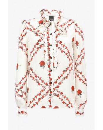 PINKO - Camicia GUANDACOL - Bianco/Rosso