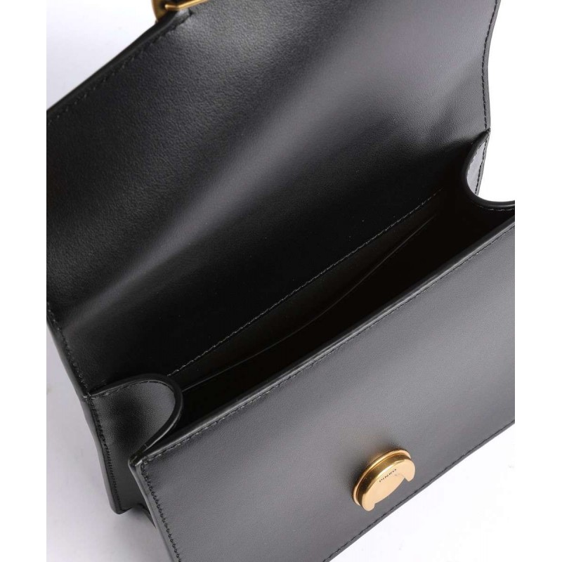 PINKO - Bag LOVE MINI TOP HANDLE SIMPLY 4 CL - Black