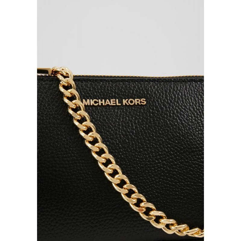 MICHAEL by MICHAEL KORS -  Leather Pochette Bag  -Black