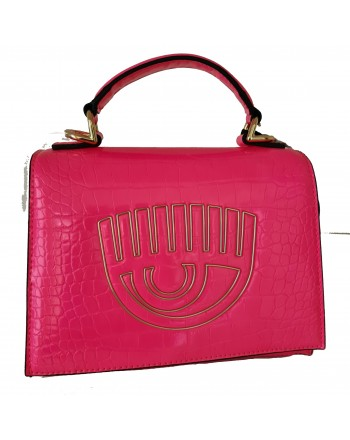 CHIARA FERRAGNI - FRAME EYE Leather Bag - Fluo Pink