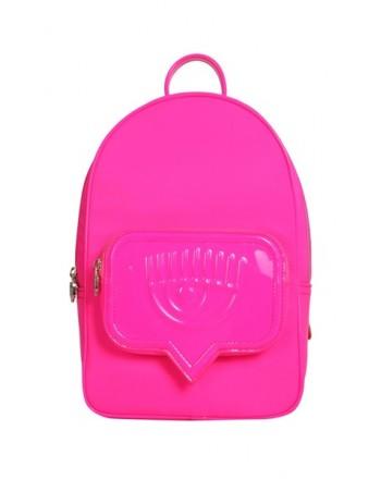CHIARA FERRAGNI - EYELIKE POCKET Backpack - Fluo Pink