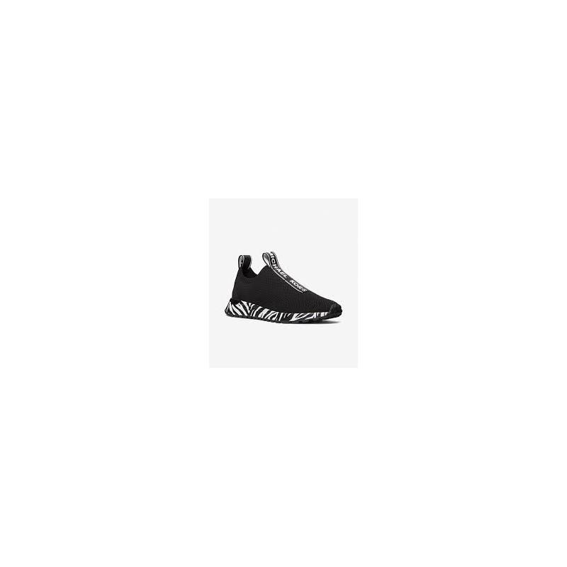 MICHAEL by MICHAEL KORS - Sneakers BODIE SLIP ON con Fondo Zebra  - Nero/Bianco