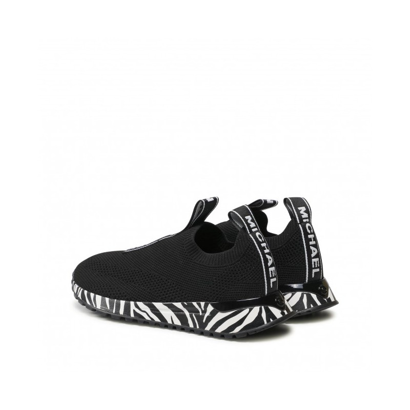 MICHAEL by MICHAEL KORS -  BODIE SLIP ON with Zebra  Sole  -Black/White