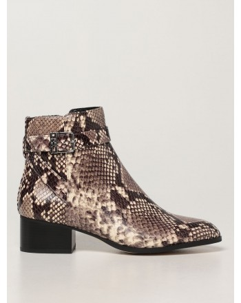 MICHAEL by MICHAEL KORS -  BRITTON Snake Printed Ankle Boots -Natural