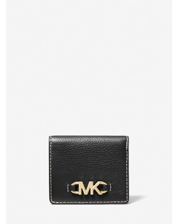 MICHAEL by MICHAEL KORS - IZZY Pounded Leather Wallet - Black