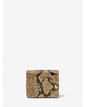 MICHAEL by MICHAEL KORS - Portafoglio a Libro IZZY Stampa Pitone -Camel