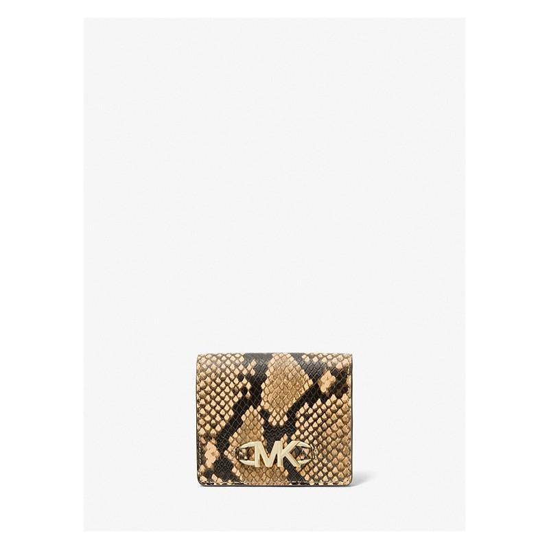 MICHAEL by MICHAEL KORS - ARIA Leather Shoulder Bag -Camel