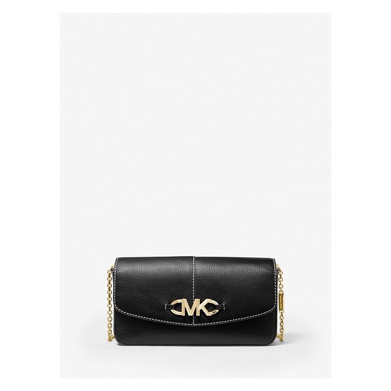 MICHAEL by MICHAEL KORS - IZZY Pounded Leather Shoulder Bag - Black