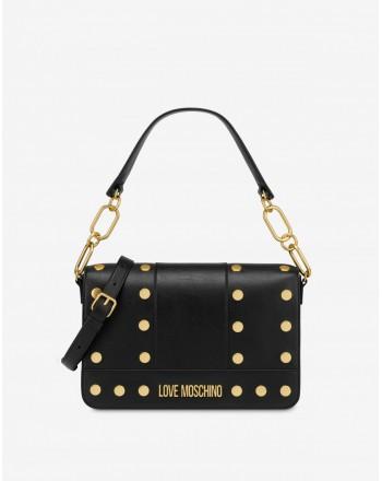 LOVE MOSCHINO - GOLD STUDS Bag- Black