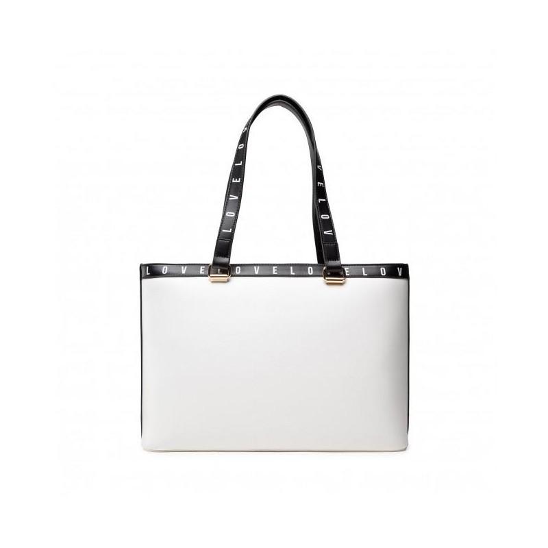 LOVE MOSCHINO - Mega Logo Shopping Bag - White