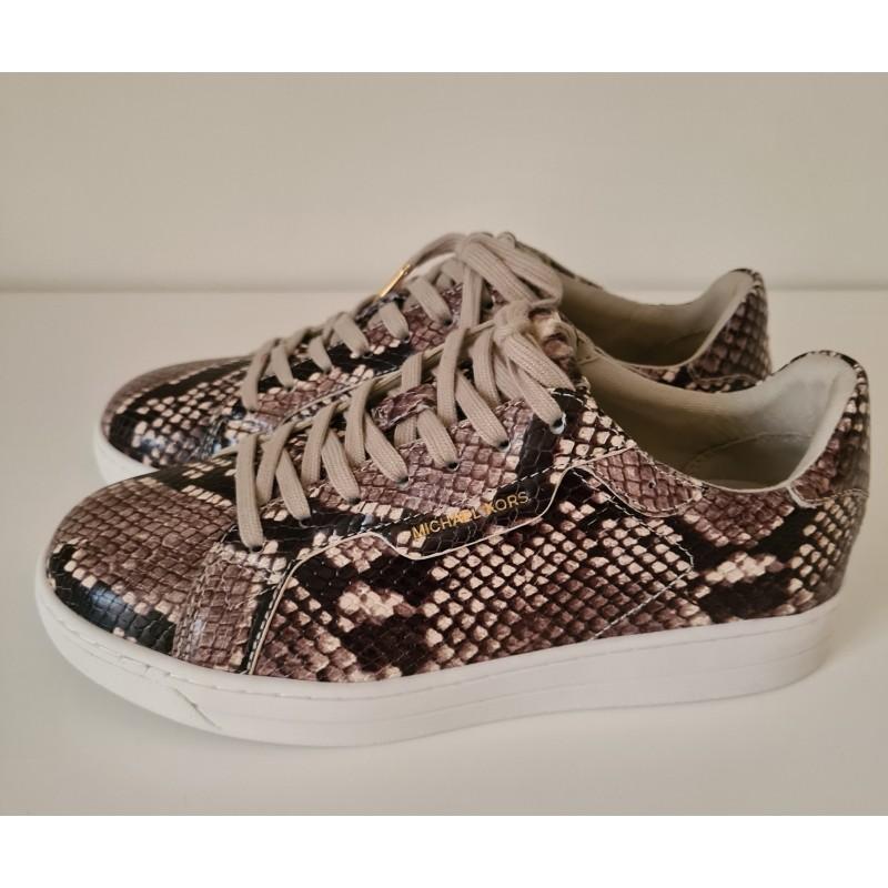 MICHAEL KORS - KEATING LACE UP Piton Print Sneakers - Natural