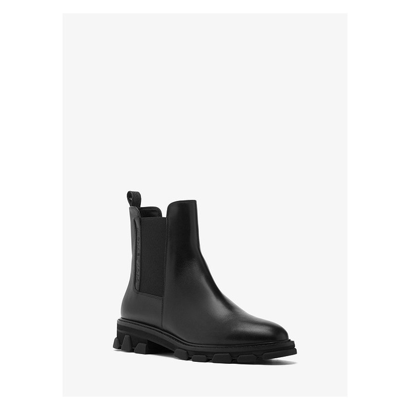 MICHAEL by MICHAEL KORS - RIDLEY BOOTIE Leather Bootie - Black