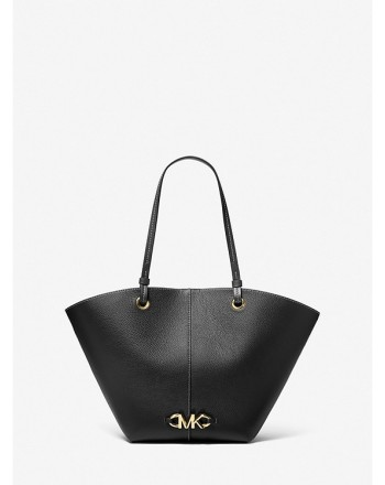 MICHAEL by MICHAEL KORS - IZZY MEDIUM Pounded Leather Bag - Black
