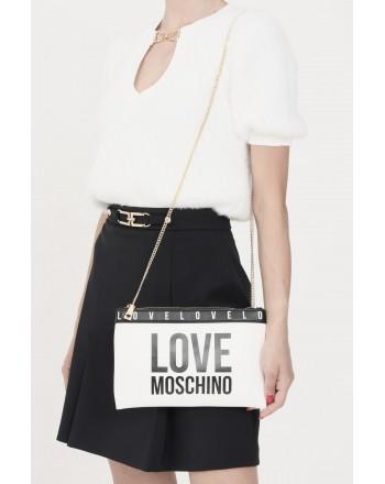 LOVE MOSCHINO - Pochette con logo a contrasto JC4185PP1D - Bianco