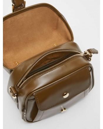 MAX MARA - ANNAS1 Leather Bag - Khaki Green