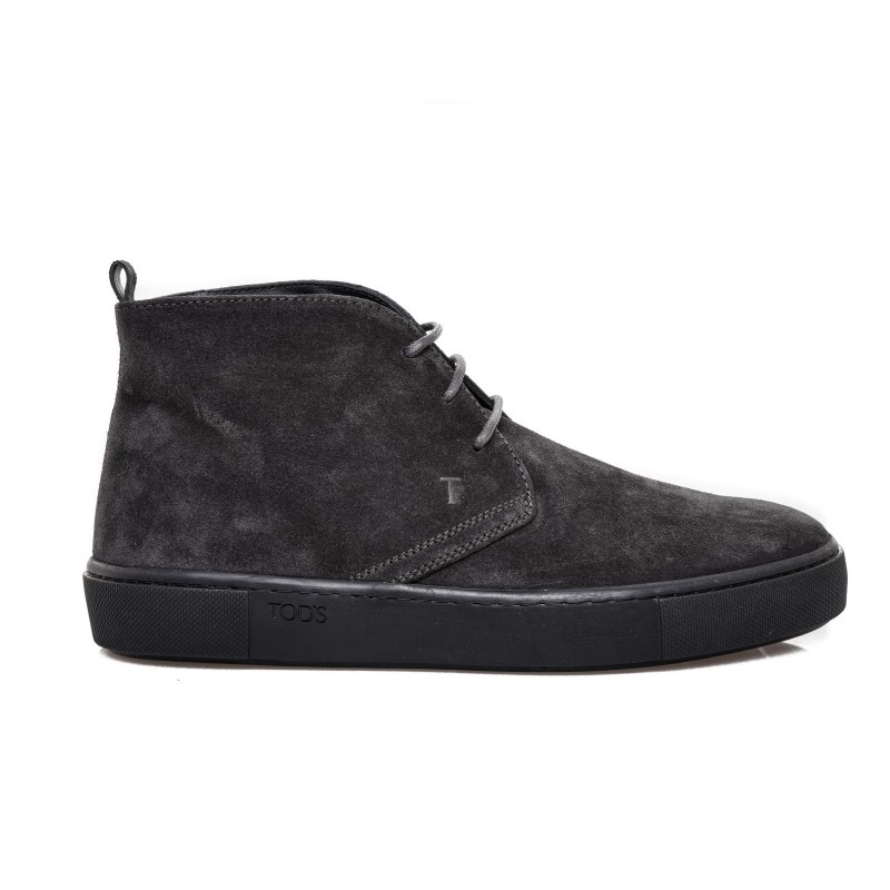 TOD'S -Suede Leather Boots - Hematite