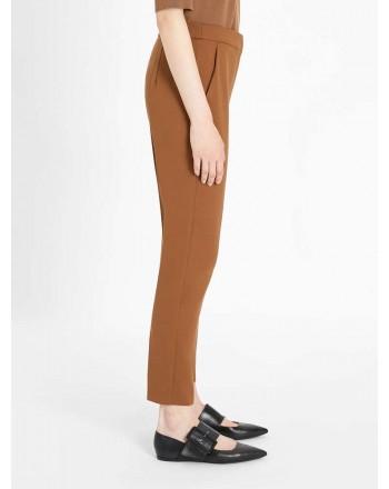 MAX MARA - Pantalone in Jersey 3PEGNO - Cuoio