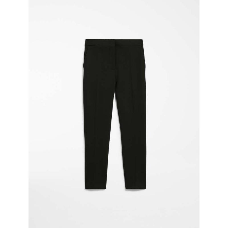 MAX MARA - Pantalone in Jersey 3PEGNO - Nero