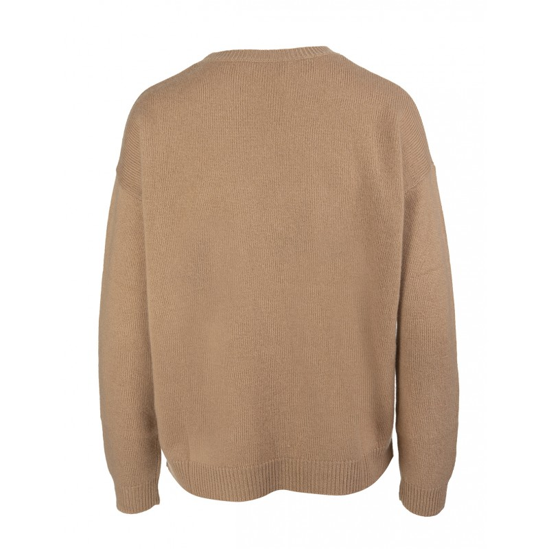 MAX MARA - GIOSTRA Wool and Cashmere Knit - Camel