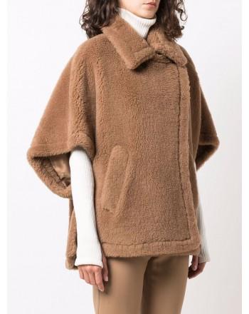 MAX MARA - TEBE Silk and Camel Cape - Camel