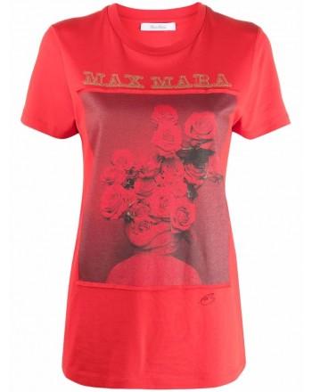 MAX MARA - T-Shirt in Cotone ROSSO - Rosso