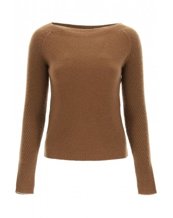 MAX MARA - DRAVA Cashmere Knit - Leather