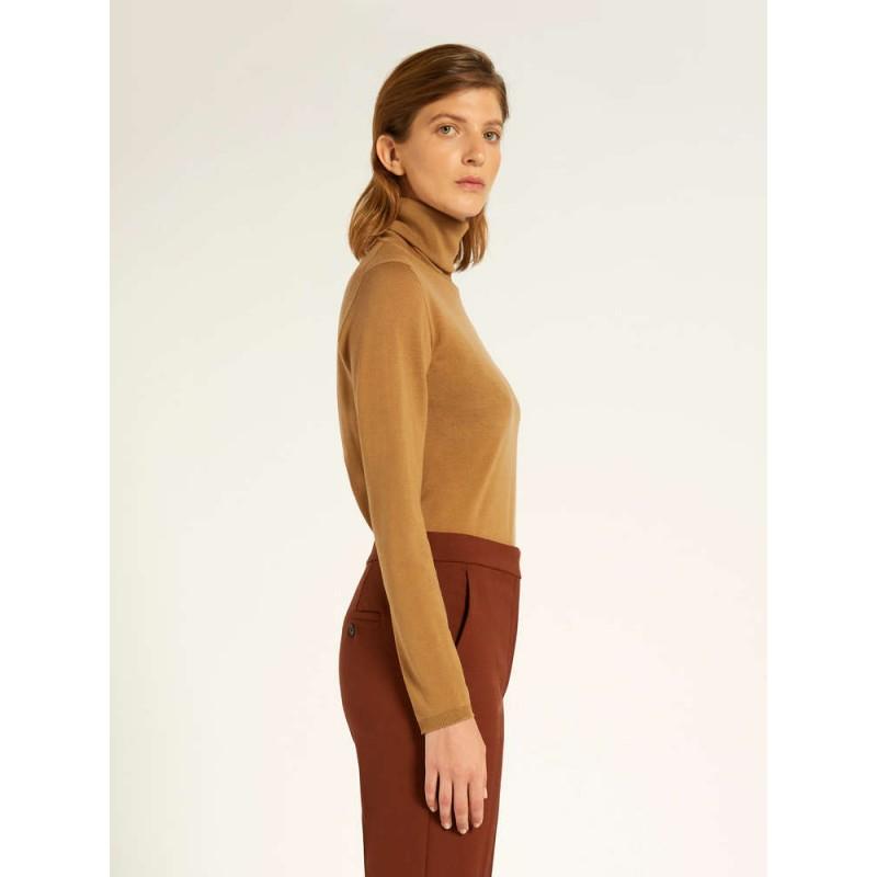MAX MARA - SALUTO  Wool Turtleneck Knit - Camel