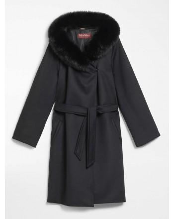 MAX MARA STUDIO  -  Wool Coat MANGO - Black