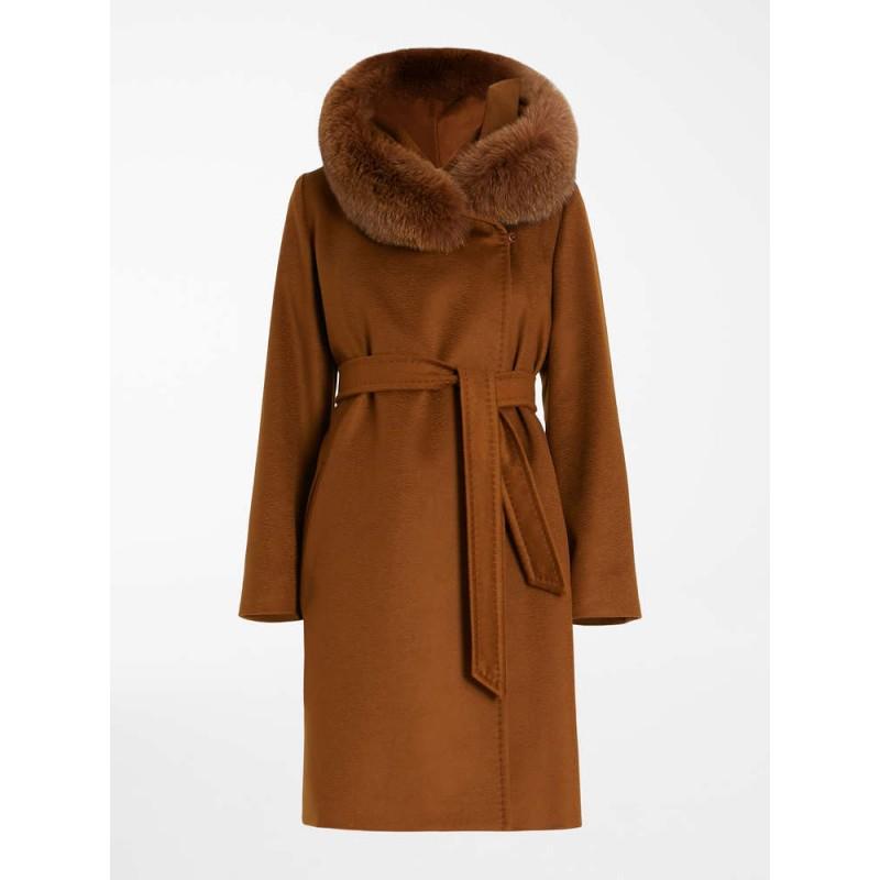 MAX MARA STUDIO  -  Wool Coat MANGO - Leather